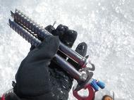 岩根山荘でアイスクライミング♪トップロープでリードの練習!