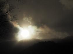 穂高神社奥宮、明神池からスノーシューで梓川右岸を歩く(2日目)