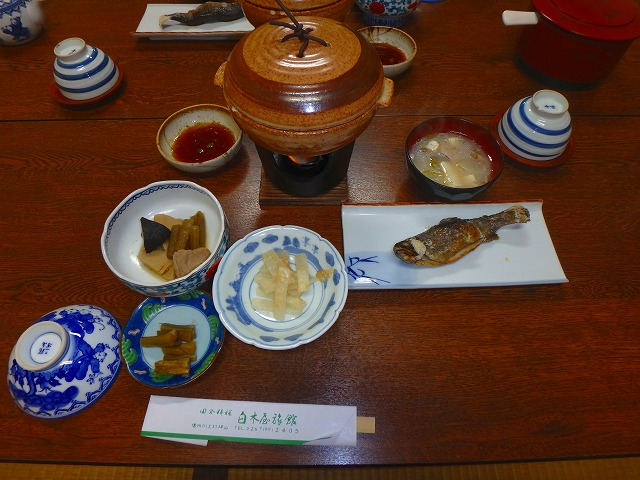 白木屋旅館の夕食