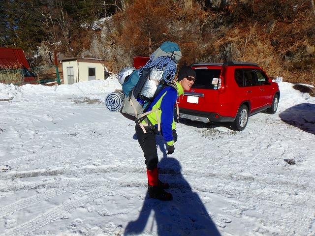南八ケ岳アイスクライミング一日目 ジョウゴ沢F2