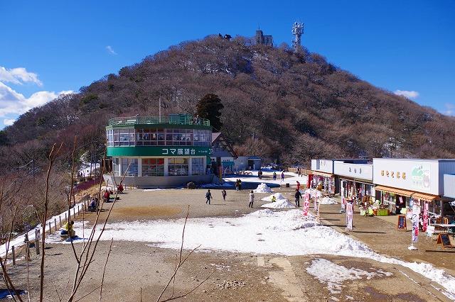 筑波山 御幸ヶ原には雪積もってました