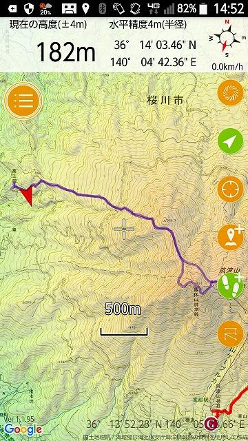 筑波山 薬王院コース 登山ルート
