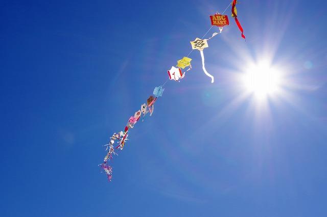 青空と連凧