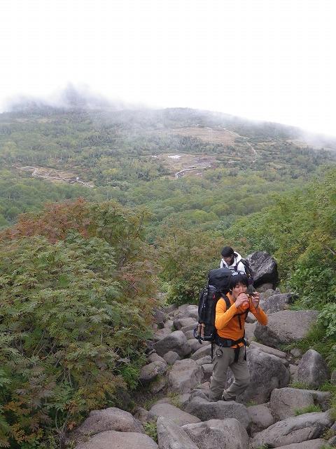 白馬登山道 岩ゴロゴロ
