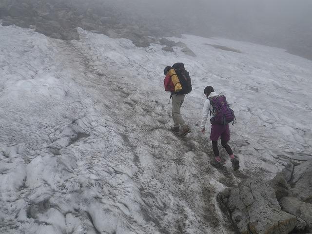 白馬登山道雪渓