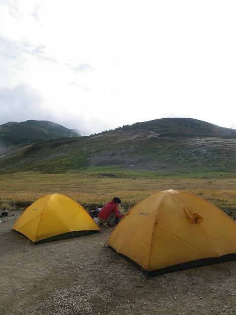 白馬大池山荘でテント泊