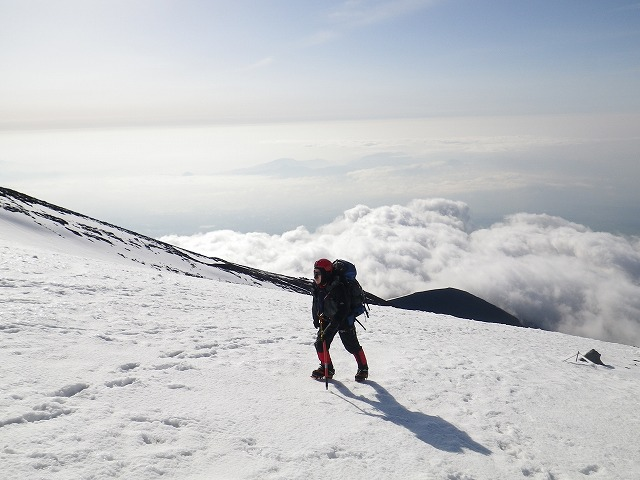 積雪期の富士登山