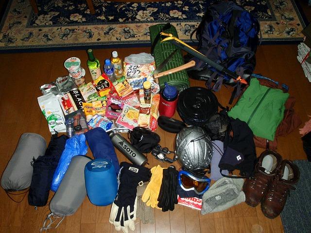 雪山登山テント泊の持ち物はこんなに多い!