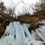 美濃戸の角木馬の氷柱でアイスクライミング☆八ヶ岳山荘近くにこんな場所があったのね!