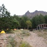 赤岳鉱泉にテント設営し、サブザックに荷物入れて硫黄岳へ[南八ヶ岳縦走登山