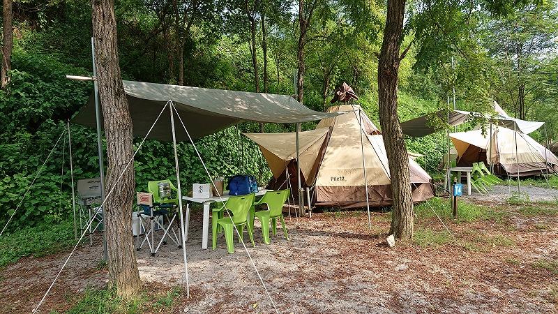 秩父巴川オートキャンプ場のティピーサイトで1泊