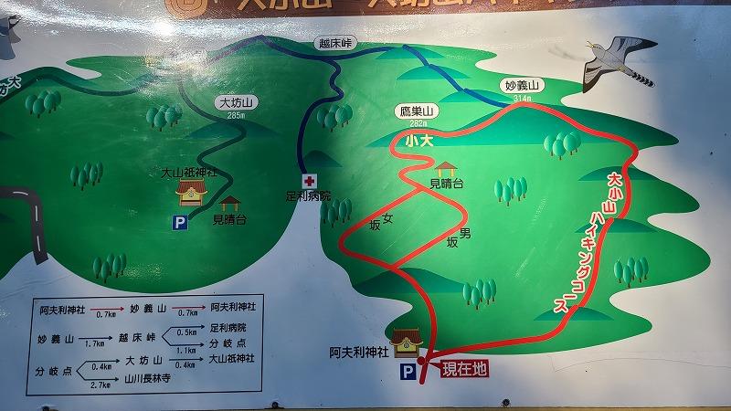 栃木県 大小山 ルート