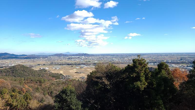 栃木県足利市 大小山 見晴台