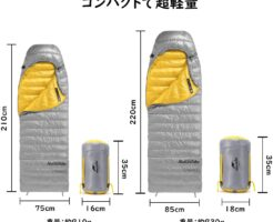 Naturehike 軽量 封筒型750FPダウン寝袋(CW400)