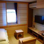 商船三井の新造船フェリーのスーペリアオーシャンビュー(和室)に家族3人で過ごした感想