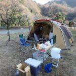 テント(ランドロック)内に薪ストーブ入れて久々に冬キャンプ!煙突の縦横の比がポイント