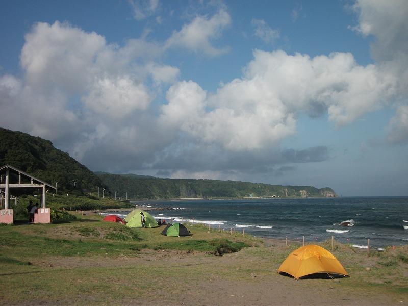 海辺、砂浜のキャンプ場