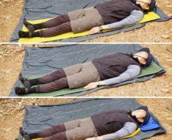 登山用マット 寝心地比較実験①