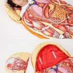 内臓が丸見え!人体模型寝袋!?